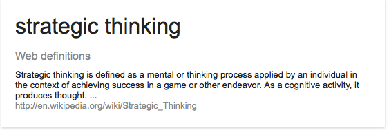 Strategic thinking web definition