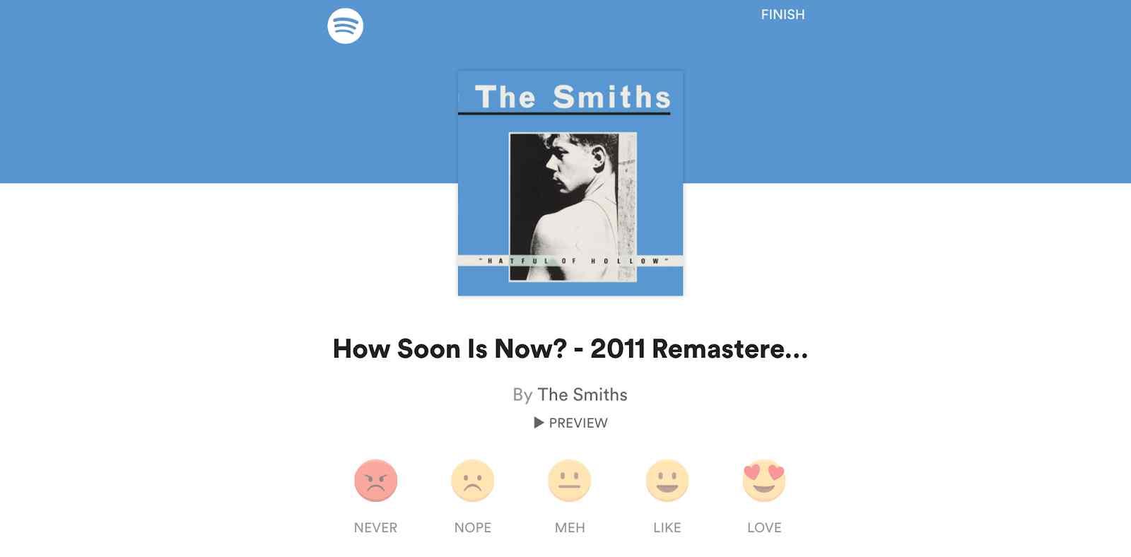 Spotify Album Feedback Popup