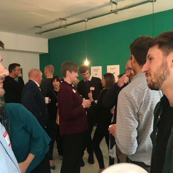A group of people chatting away at the Colchester MarketingMeetup