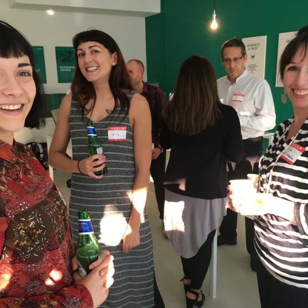 A group of people chatting at the Colchester Marketing MeetUp