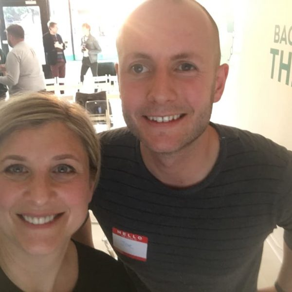 Joe Glover and Kim Moore at the Colchester Marketing Meetup