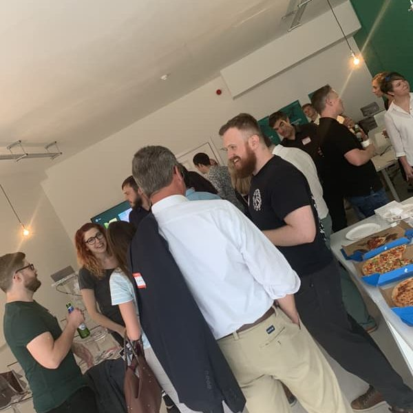 Networking at the marketing MeetUp Colchester